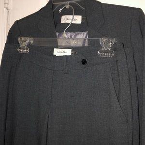 Grey 3 piece suit Calvin Klein
